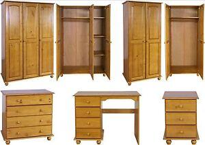 Antique Pine Bedroom Furniture Wardrobe