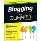 Blogging for Dummies(R) by Amy Lupold Bair, Susannah Gardner (Paperback, 2013)