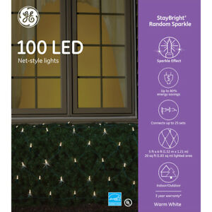 New Ge Staybright 5 X 4 Ft Random Sparkling White 100