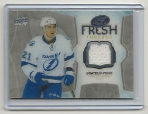 Details about 16-17 2016-17 Upper Deck Ice Fresh Threads #FTBP Brayden  Point Tampa Bay Jersey