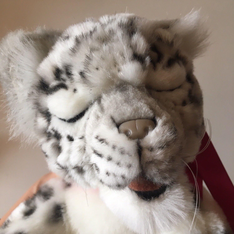 Miss oh/4753 Snow Leopard Sleeping/ Stuffed Plush Soft Toy HANSA realistic