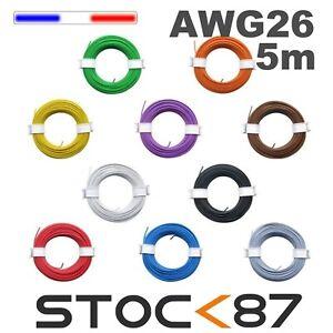awg26-5-fil-de-cablage-modelisme-bobine-de-5m-plusieurs-couleurs-disponibles