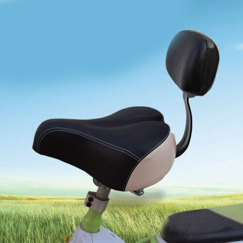 1×Electric Tricycle Mountain Bike Saddle Seat Pad Widen With Back Rest Universal