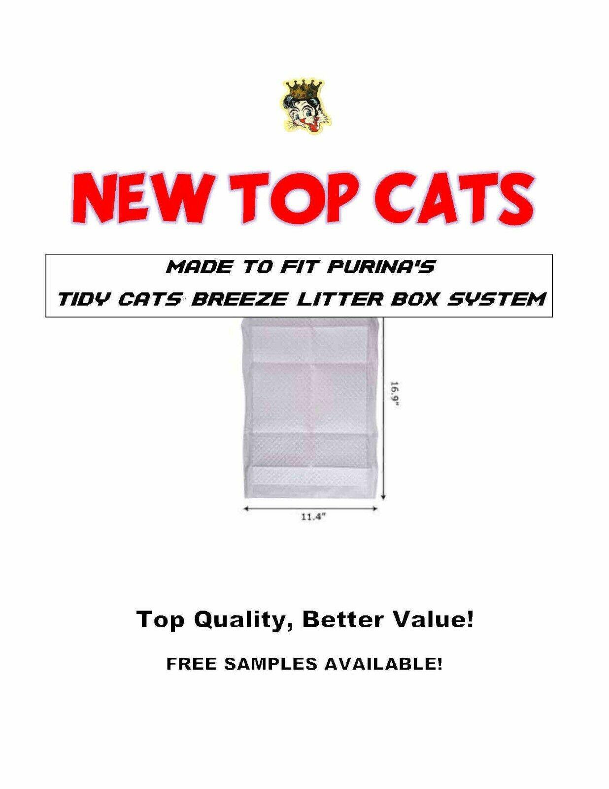 160ct Top Cat CHEAP Litter Box Pads Fits 11.4 x16.9 Name Brand Litter Box Sys.