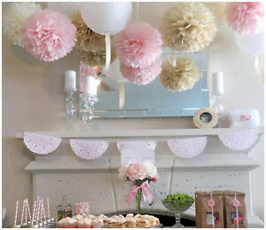 12 Inch 30CM Tissue Paper Pom Poms Flower Ball Wedding Birthday