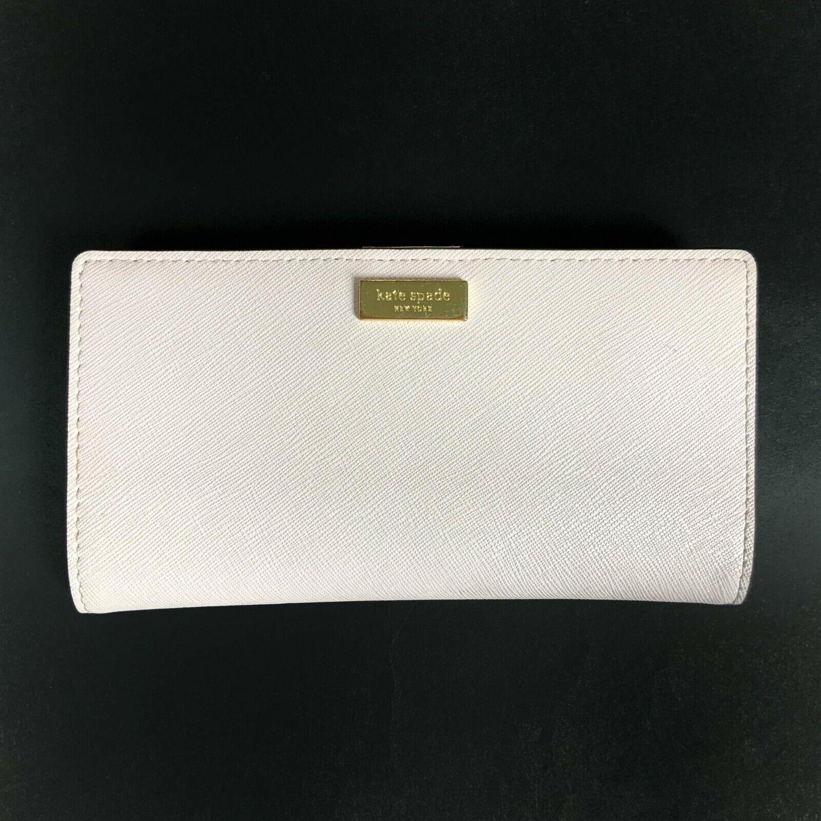 Kate Spade New York Darcy Slim Bifold Wallet Ballet Pink Leather Snap Closure
