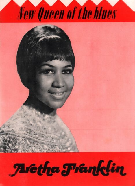 ARETHA FRANKLIN 1968 NEW QUEEN OF THE BLUES CONCERT PROGRAM BOOK / EX 2 NMT
