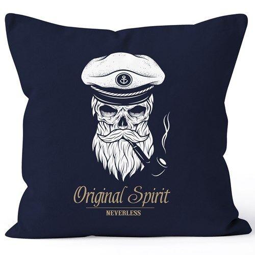 Taie d/'oreiller tete de mort capitaine capitaine skull Bard Hipster marin 40x40 autiga ®