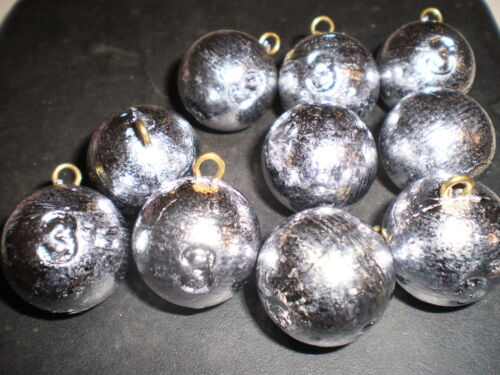 Cannon Ball plomb Pêche Poids 3 oz environ 85.05 g x dix