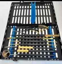 Dental Micro Oral Surgery Instruments Kit 11 Pcs Black Coated
