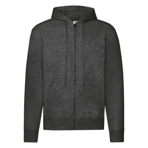 Fruit Of The Loom Mens Classic 80//20 Full Zip Up Hooded Sweatshirt Casual Hoodie