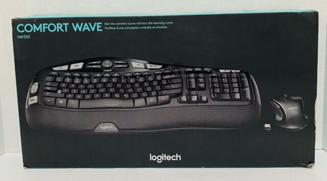 Logitech Wireless Wave Keyboard/Mouse Combo MK550 - Curved Comfort, Black Tested