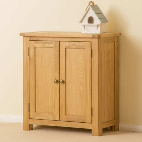 Hand Crafted Small Cupboard Waxed Oak Sideboard Roseland Solid Oak Cupboard