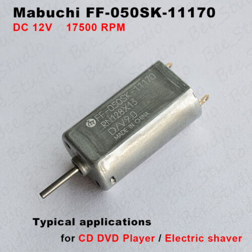 Mabuchi FF-050SK-11170 Motor DC 9V 12V 17500RPM High Speed For Car AV CD Player