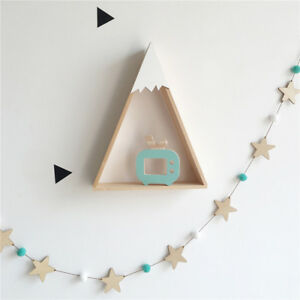 ITS-GT-Nordic-Wooden-Star-Fluffy-Ball-Wall-Hanging-Ornament-Kids-Nursery-Room