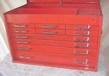 Vintage Mac Tools Mb500 Ten Drawer Tool Chest Box Cabinet 26 X 16 X 17 12