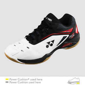 Yonex Badminton/Squa<wbr/>sh Indoor Shoes SHB65Z, Power Cushion+, White/Red, Latest