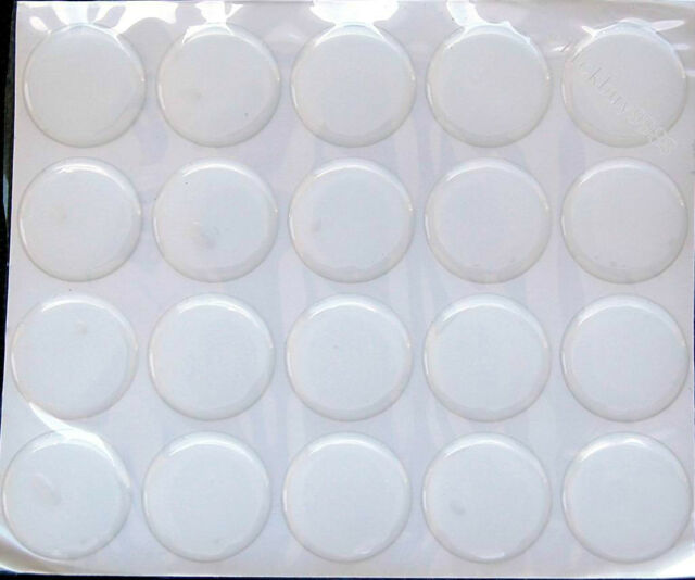 """300 pcs 1"""" Crystal Clear Epoxy Adhesive Circles Bottle Cap Stickers  2mm Thick"""