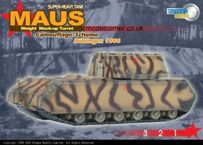 Dragon Armor 1:72 Super Heavy MAUS Camouflage Scheme Boblingen 1944 Built #60157
