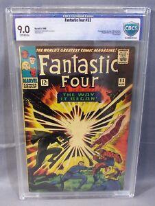 FANTASTIC FOUR #53 (Black Panther origin & 2nd app) CBCS 9.0 Marvel 1966 cgc