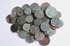 Collection Of 50 As Dug Old English Coins Found Metal Detecting