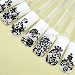 108pcs high quality 3d nail art stickers decals decoration for Decoration xxl