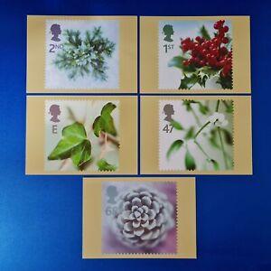 Set of 5 PHQ Stamp Postcards Set No.248 Christmas 2002 GB3