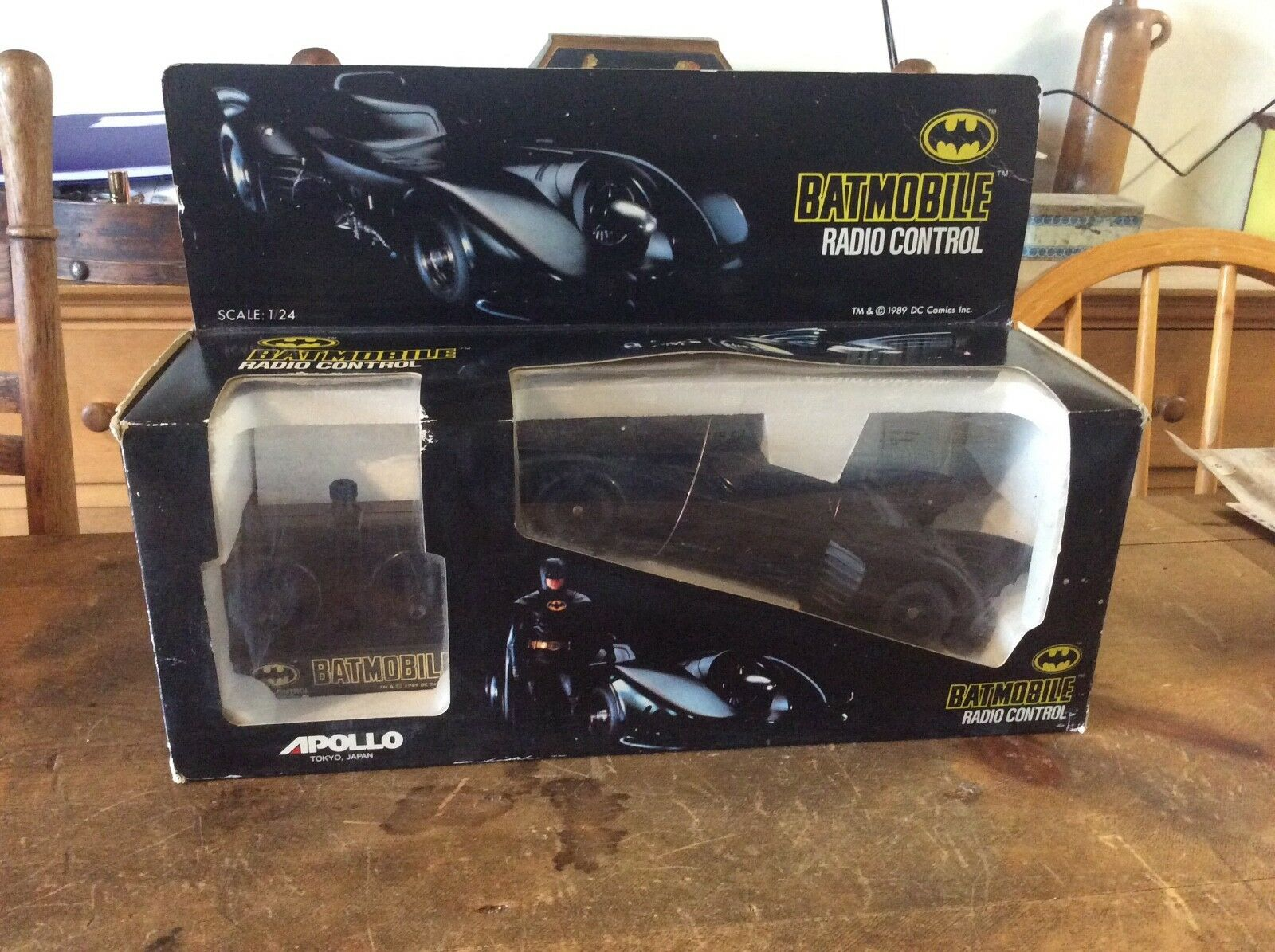 APOLLO BATMAN BATMOBILE 1989  REMOTE CONTROL RARE UNUSED
