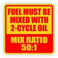 2-inch 50:1 Vinyl Sticker | Decal | Chain Saw Weed Trimmer 2-Cycle Oil Fuel Mix