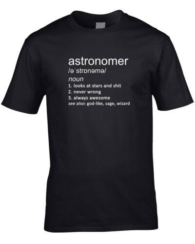 Astronomer Joke Definition Mens T-Shirt Gift Idea Funny Astronomy Job Science