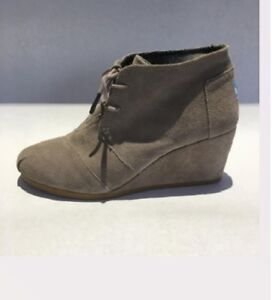 25e8b28c8e4 Image is loading Toms-Women-039-s-Desert-Wedge-Suede-Bootie-