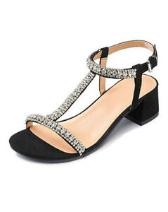 LADIES-BLACK-WIDE-FIT-T-BAR-WEDDING-PARTY-PROM-EVENING-SANDALS-SHOES-SIZES-4-9