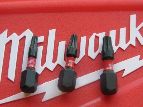 MILWAUKEE SHOCKWAVE 25MM TORX T10 T15 T20 IMPACT TORSION ZONE SCREWDRIVER BITS