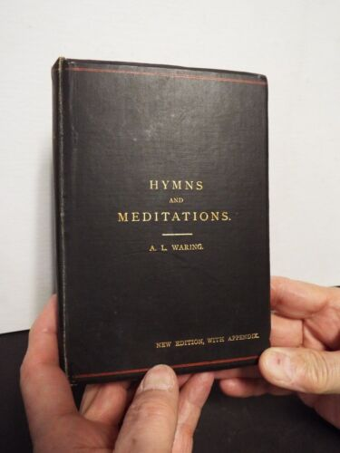 1896 Hymns and Meditations by A.L. Waring with Letter Signed