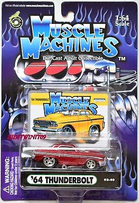 Aromatischer Geschmack Muskel Maschinen '64 Thunderbolt 02-40 Red 1:64 Waage Modellbau Autos, Lkw & Busse