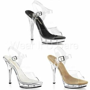 eceee973dd3 Details about PLEASER FABULICIOUS LIP-108 POLE DANCING COMPETITION STILETTO  HEEL SANDALS SHOES