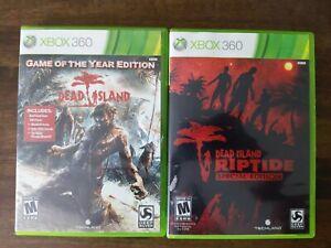 USED Dead Island + Dead Island Riptide Xbox 360 Lot of 2 Bundle - Free Shipping