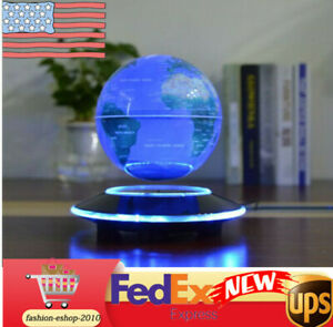 6'' Magnetic Light Floating Globe Levitation Earth World Map Rotating Colorfu