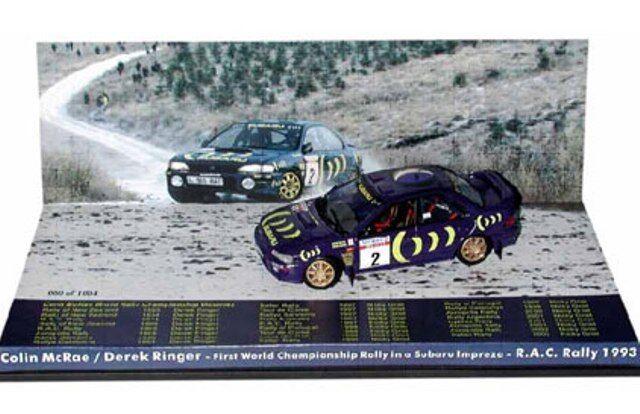 TROFEU AME03 SUBARU IMPREZA Modellll rally car set Colin McRae RAC Rally 1993 1 43