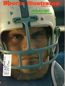 1971 11/8 Sports Illustrated,Magazine,Football, Norm Bulaich, Baltimore Colts VG