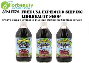 3 X Dynamic Health Laboratories Pure Blueberry 100 Juice