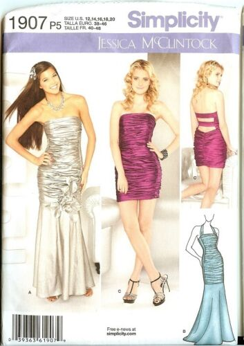 OOP Simplicity Sewing Pattern Misses Formal Prom Party Dress Gown You Pick
