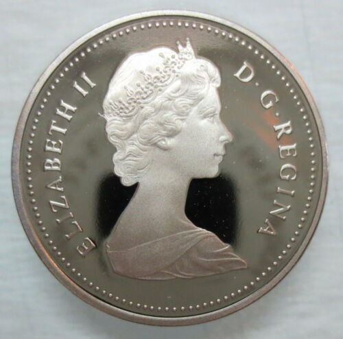 1985 CANADA 5 CENTS HEAVY CAMEO PROOF NICKEL COIN
