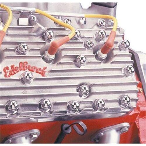 11//16 Nuts Flathead Ford V8 Cylinder Head Chrome Acorn Nut Covers