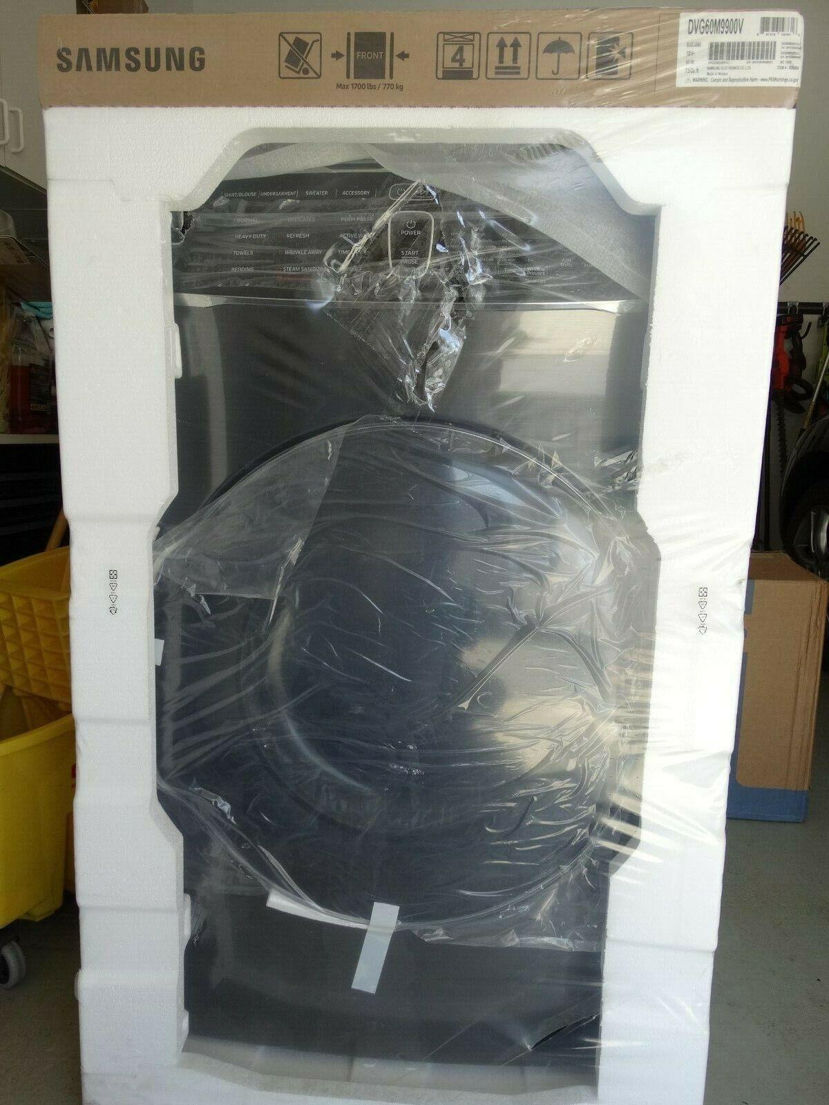 Samsung 7.5 cu ft FlexDry Gas Dryer (Black Stainless Steel) - DVG60M9900V