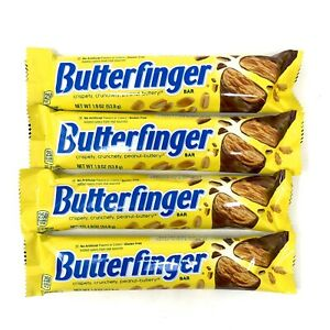 4 Butterfinger Candy Bars 1.9 Ounces Each Best By June 2020 Free Shipping