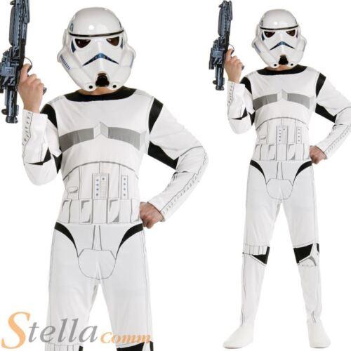 Mens Storm Trooper Star Wars Halloween Fancy Dress Costume 70s 80s Outfit