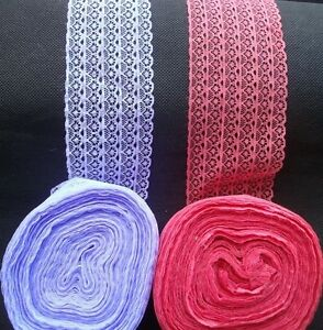 8cm-Thick-Lace-Ribbon-Trimming-Bridal-Wedding-Home-Ware-Decoration