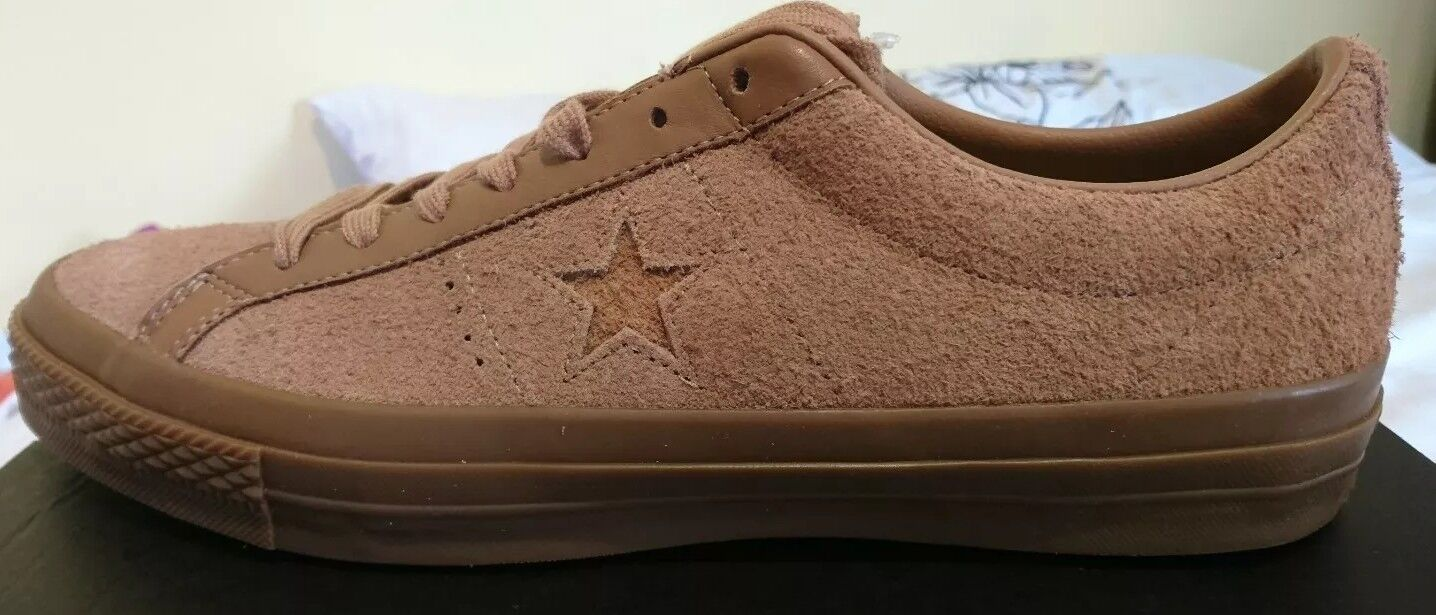 Converse One Star Ox Suede Brown Uk 10.5 Mens Trainers Bnib 155550C pink Taupe