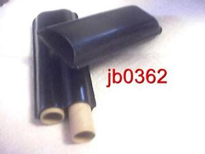 2 Finger Black Leather Cigar Travel Case